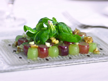 Fresh California Grape Mosaic Salad Recipe from Food Network on ...