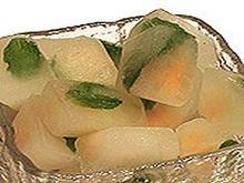 Lemonade with Lemonade Ice Cubes Recipe