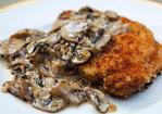 Porkchops with Mushroom Bourbon Cream Sauce Recipe