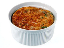 Chicken and Cheddar Souffle Recipe