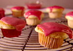 Mascarpone Mini Cupcakes with Strawberry Glaze Recipe