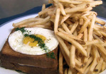Croque-Madame, Sauce Mornay (Grilled Ham and Cheese Sandwich with a Fried Egg and Mornay Sauce) Recipe