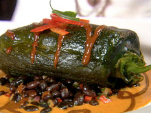 Oven Roasted Chile Relleno with Chipotle Asado Sauce Recipe