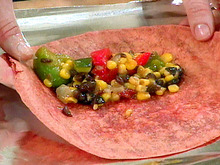 Vegetable Chili Wraps Recipe