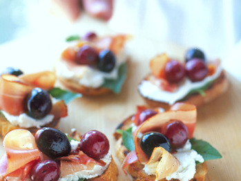 Grape and prosciutto appetizer recipe from food network on foodpair forumfinder Gallery