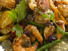 "Grilled Spice Rubbed Shrimp ""Nicoise"" Salad Recipe"