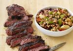 Grilled Steak with Black-Eyed Peas Recipe