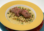 Chili-Lime Pork Tenderloin over Soft Polenta with Hungarian Wax Peppers and Corn Recipe