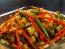 Harissa Spiced Green Bean Salad Recipe