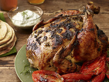 Herb-Roasted Chicken with Melted Tomatoes Recipe
