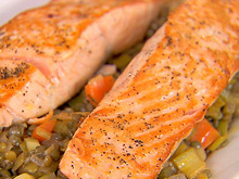 Salmon with Lentils Recipe