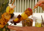 Grilled Pork and Pineapple Skewers with Achiote Sauce Recipe