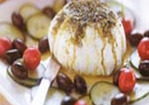 Lebanese Yogurt Cheese with Za'Atar and Olives Recipe
