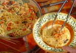 Spaghettini with Salt Cod and Tomatoes: Spaghettini con Baccala e Tomate Recipe