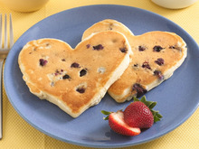 Blueberry Pancake Hearts Recipe