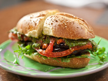 Roasted Eggplant and Tomato Subs Recipe