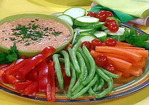 Roasted Red Pepper Hummus and Crudite Recipe