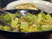 Roasted Tomato Dressed Romaine Salad Recipe