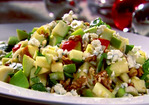 Chopped Apple Salad with Toasted Walnuts, Blue Cheese and Pomegranate Vinaigrette Recipe
