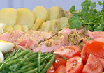 Roasted Salmon Nicoise Platter Recipe