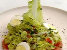 Baby Greens Salad with Quail Egg and Maple White Balsamic Vinaigrette Recipe