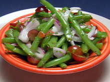 Red Grape Haricot Salad with Mustard Dressing Recipe