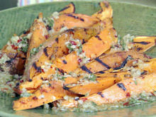 Garlic and Herb Grilled Sweet Potato Fries Recipe