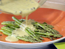 Grilled Asparagus with Green Peppercorn Vinaigrette Recipe