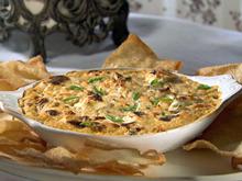Hot Crab Rangoon Dip with Won Ton Chips Recipe