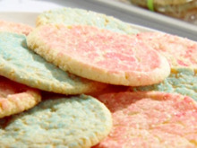 Lemon Sugar Cookies with Sandy's Colored Sugar Recipe