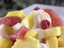 Morning Mango Fruit Salad with Key Lime Yogurt Recipe