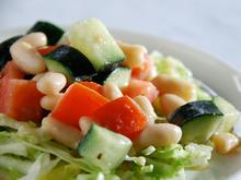 Online Round 2 Recipe - Cucumber, Tomato, and White Bean Salad Recipe