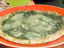 Grilled Flatbread with Asparagus Pesto and Fontina Recipe