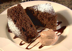 Super Moist Chocolate Cake with Chocolate-Cinnamon Topping Recipe