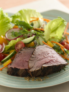 Grilled Spicy Filet Mignon Salad with Ginger-Lime Dressing Recipe
