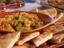Dill Hummus and Toasted Pita Wedges Recipe