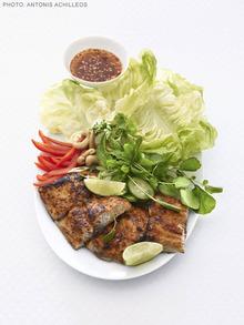 Thai Red Curry Mahi Mahi Salad Recipe