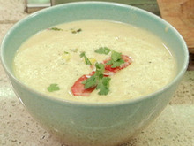 Lobster and Green Chile Chowder with Roasted Corn-Green Chile Relish Recipe