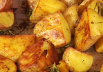 Crunchy Roasted Rosemary Potatoes Recipe