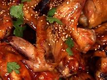 Teriyaki Chicken Wings With Sesame And Cilantro Recipe