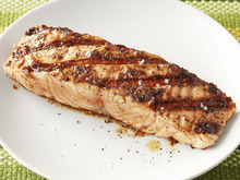 Salmon with Olive Vinaigrette Recipe