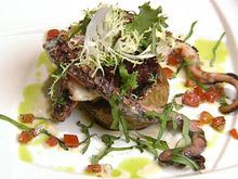 Warm Octopus and Sweet Onion Salad with Fresh Basil and Lemon Vinaigrette Recipe