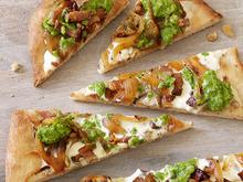 Flatbread With Bacon and Scallion Pesto Recipe