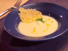 Silky Cauliflower Soup with Parmesan Crisps Recipe