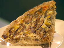 Caramelized Onion, Mushroom and Gruyere Quiche with Oat Crust Recipe