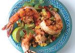 Chile-Rubbed Shrimp with Avocado Corn Cocktail Recipe