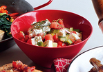Chopped Veggie Salad with Watermelon and Feta Cheese Recipe
