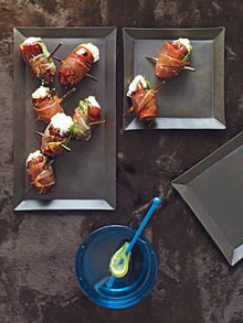 Dates with Goat Cheese Wrapped in Prosciutto Recipe