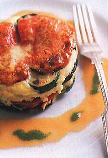 Eggplant, Zucchini, Red Pepper, and Parmesan Torte Recipe