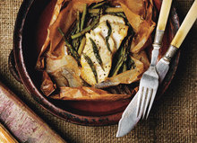 Fish Fillets in Parchment with Asparagus and Orange Recipe